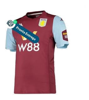 Camisa Aston Villa 1º Unif. 19/20 - Pronta Entrega