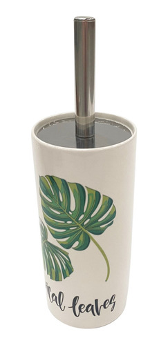 Imagen 1 de 5 de Cepillo Para Wc, Mango De Metal, Con Base De Cerámica, Vario