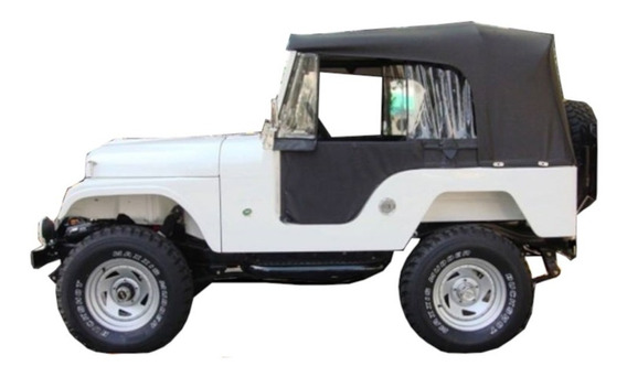 Capota Conversível Jeep Willys Cj5 Preta Completa Pissoletro