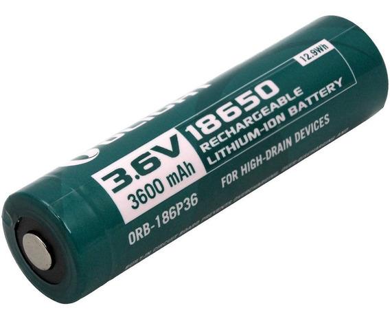 Queima! Bateria Recarregável 3600mah 3.6v Olight Orb2-186p36