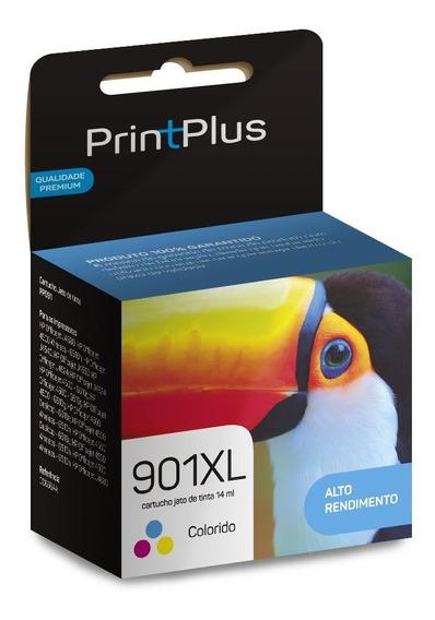 Cartucho Tinta 901xl Color Cc654ab 14ml Printplus - Pp091