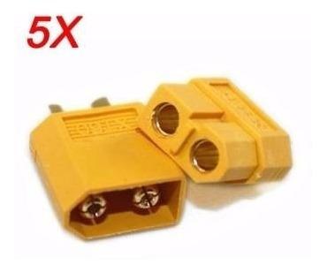 Plug Conector Xt60 = 5 Pares (5 Machos / 5 Fêmeas)