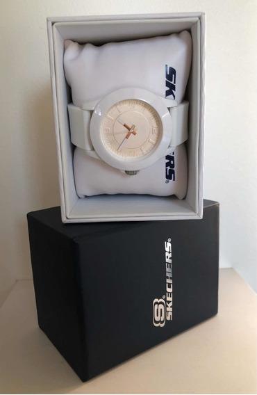 Skechers Reloj Análogo Blanco Extensible Silicon