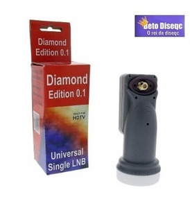Lnbf Diamond Single Universal Banda Ku - 0,1 Db Conector
