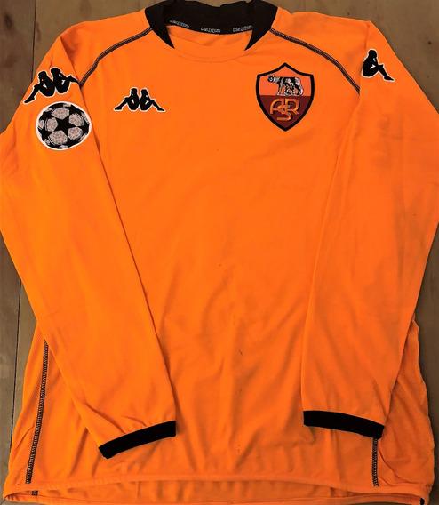 Camisa Roma Champions League 2000/01 De Jogo Antonioli #1