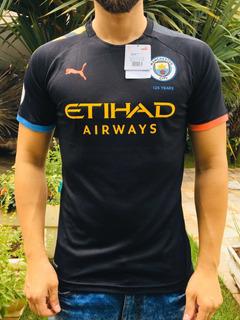 Camisa Manchester City Away Preta Versão Jogador Sterling 7