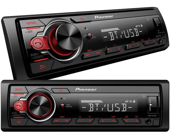 Radio Estereo Pioneer 215 Bluetooth Usb Aux 50w X 4 Canales