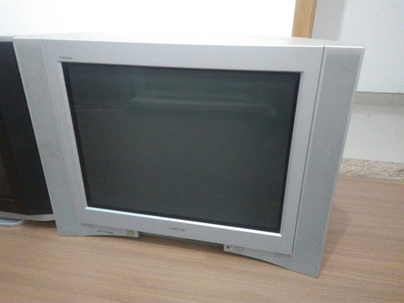 Tv Sony 29 Tela Plana Com Subwofer Interno, Retrogamer