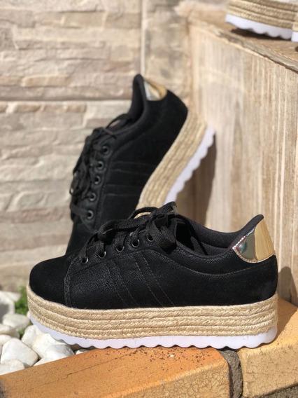 Tenis Feminino Flatform Salto Alto Sneaker
