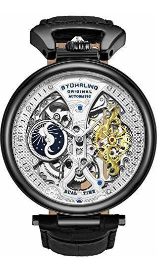 Sthrling Original Reloj De Esqueleto Para Hombre Con Esfera