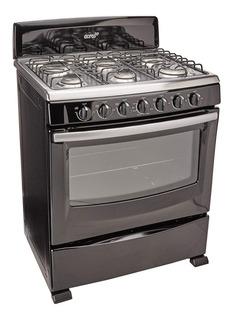 Estufa Acros 30p Enc Manual Negro 6 Quemadores Visor Cocina