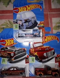 Lote De 3 Autos Hot Wheels Flames Y Hot Trucks