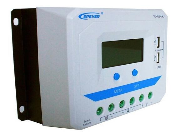 Controlador Solar Epever 45a 12 V Vs4524au 24 V Auto