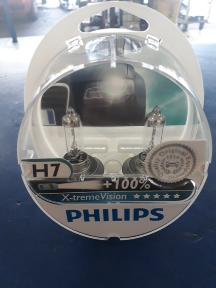 Par Lâmpada Philips X-treme Vision H7 3350k 55w 12v