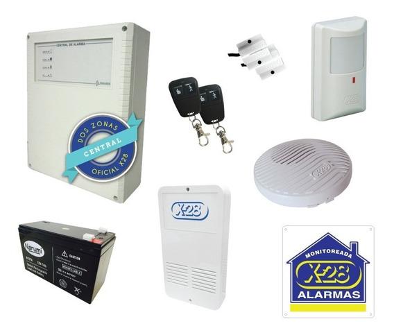Kit Alarma Casa X-28 2 Zonas Agente Oficial 1p