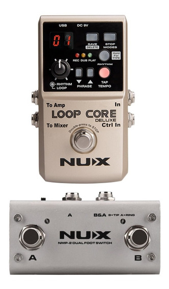 Pedal Loop Core Deluxe Nux + Footswitch Para Guitarra O Bajo
