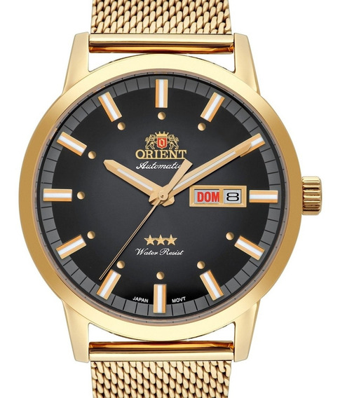 Relógio Orient Masculino Automatico Dourado 469gp085 P1kx