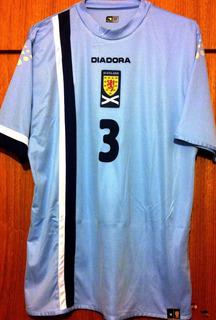 Camisa Escócia Usada Em Jogo 2007 Diadora #3
