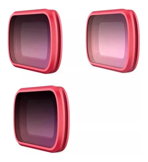 Kit De 3 Filtros Osmo Pocket Cpl Nd8 Nd16 Linha Profissional