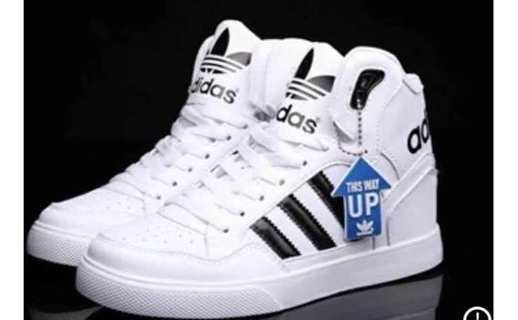 Zapatillas Adidas Clasicas Bota Tenis Blanco en Mercado