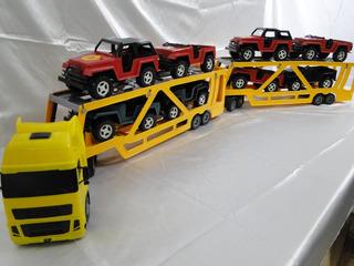 Escala 1/24 Volvo Cegonha Com Jeep Bitrem Julieta Dolly Car