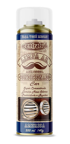 Imagem 1 de 5 de Limpa Ar Condicionado Higienizador América 200ml Centralsul