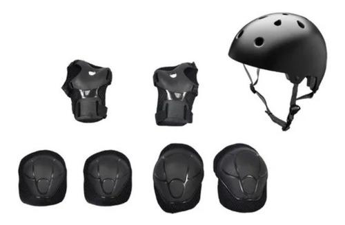 Kit Proteção Luva Joelheira Cotoveleira Capacete Bike Patins