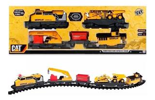 Tren Cat De Construccion Express Motorizado Con Luz Intek