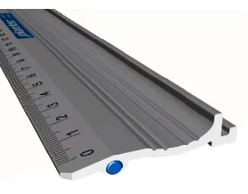 Imagen 1 de 8 de Regla De Corte Con Proteccion De Dedos Aluminio 50cm