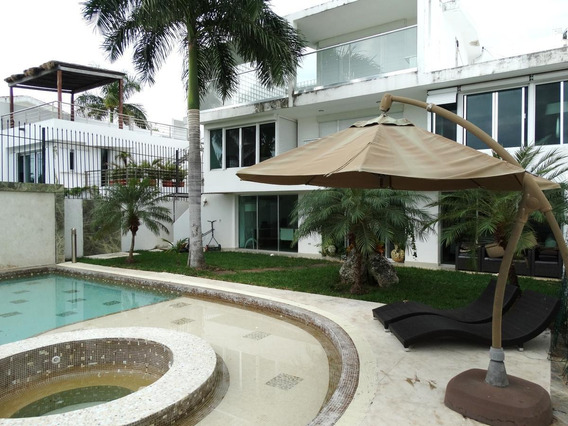 Luxury Casa En Renta Amueblada 5 Recámaras En Pok Ta Pok, Calle Colibrí,zona Hotelera, Cancun