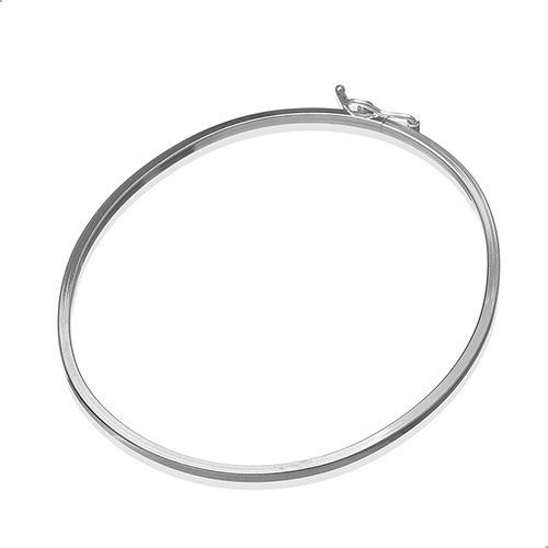 Pulseira Bracelete, Fio Quadrado 2 Mm, Prata 925 - 121900262