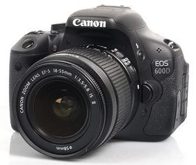 Câmera Canon Eos 600d + Carregador 2baterias 2lentes- Tripe