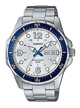Relógio Casio Analógico Mtd100d-7a2wc Aço Inoxidável Oficial