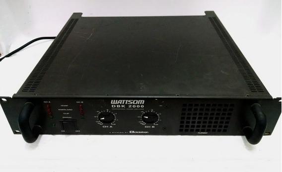 Amplificador De Áudio Potência Wattsom Dbk 2000