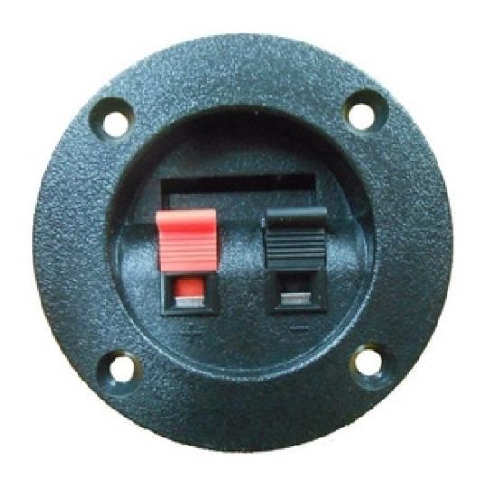 Bornera Plastica Cable Pelado Redonda 6,5cm 2 Contactos