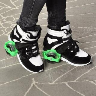 Patines 2 Ruedas Con Luces Para Tenis/zapato