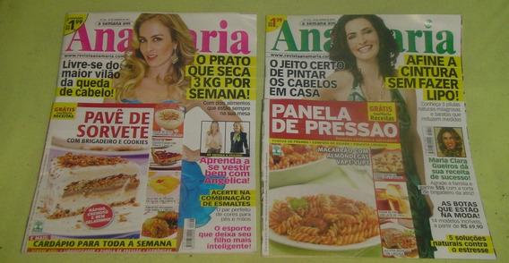 Lote 2 Revistas Ana Maria + Receitas Culinária - Cód.423