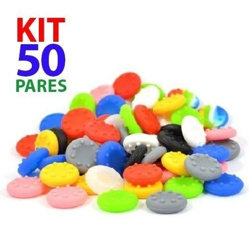 Kit 50 Pares Grip Silicone Boraccha Capa Analógico Xbox Ps4