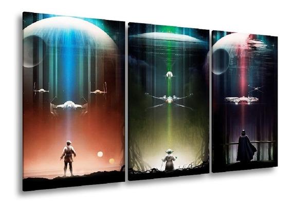 Quadro Decorativo 107x60 Sala Quarto Star Wars Triology