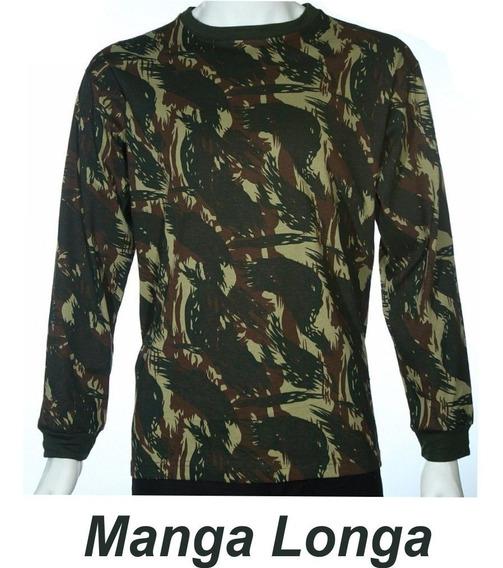 Camisa Camuflada Malha Fria Pv Manga Comprida