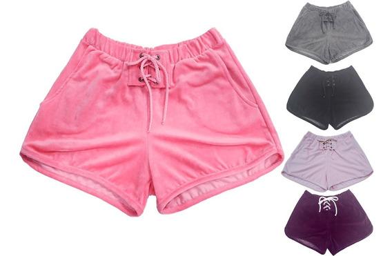 Kit 5 Shorts Feminino Atacado Tecido Fresquinho Love Verão