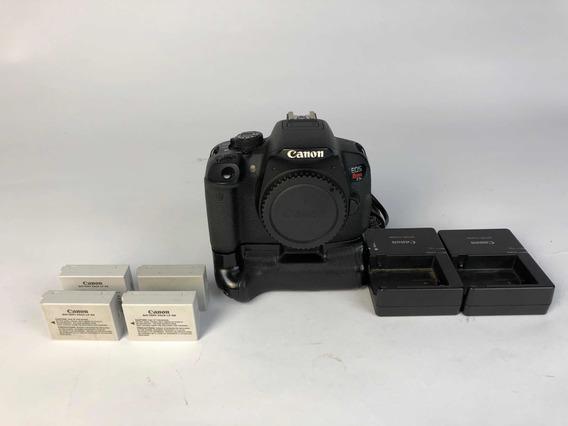 Cânon T5i + Lentes 18-55 E 50mm 1.8 Yongnuo Mais 4 Baterias