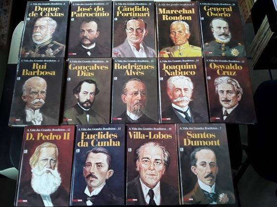 Lote 14 Livros A Vida Dos Grandes Brasileiros
