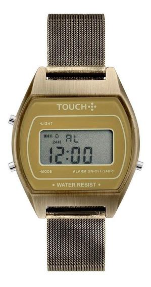 Relógio Touch Unissex Terra Dourado - Twjh02bg/t4d