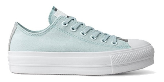 Converse Zapatilla As Lift 567460 Aqua Platarform Lona Dep