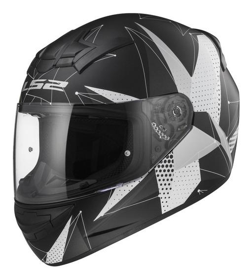 Cascos Moto Integral Ls2 352 Brilliant Negro Mate