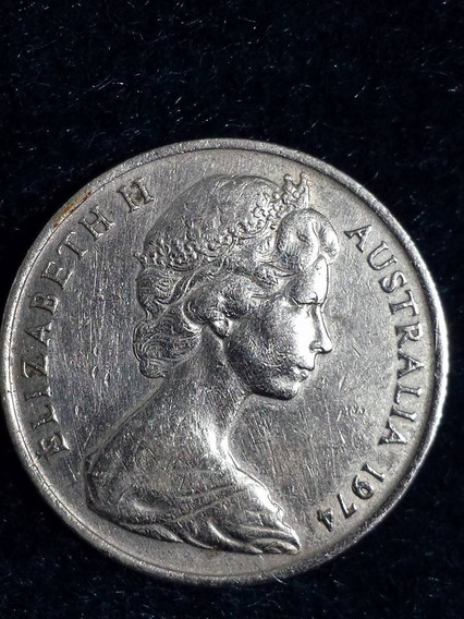 Moneda Australia 1974 10 Cents Ref P10-40