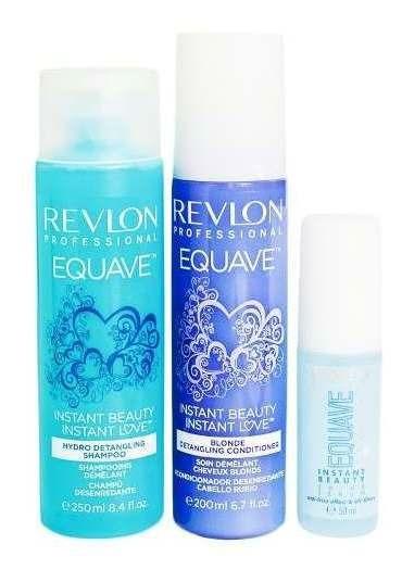 Kit Revlon Equave Shampoo + Spray Desenredante+ Serum Rubios
