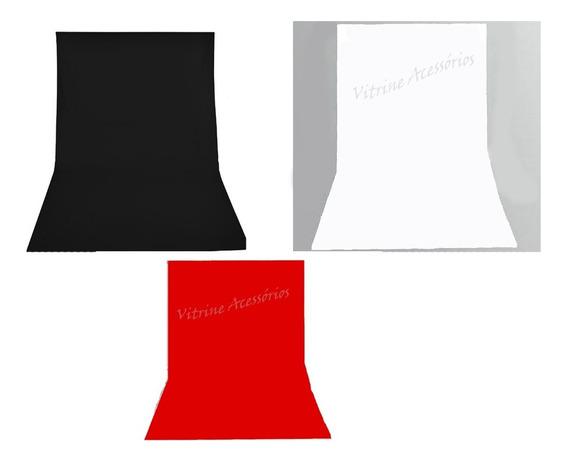 3 Tecido 3x4 /preto/ Branco/vermelho Fundo Infinito Estúdio Fotográfico Youtuber Foto Chroma Key Igreja Ringligth Escola