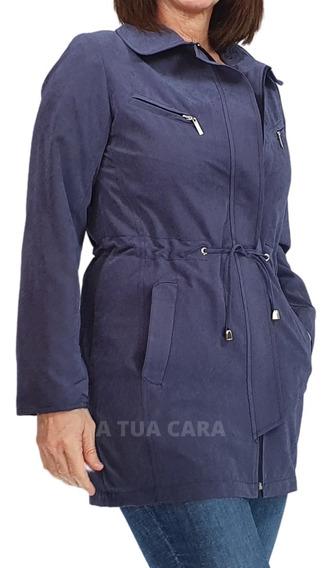 Piloto Impermeable Microfibra Entallado Capucha Mujer